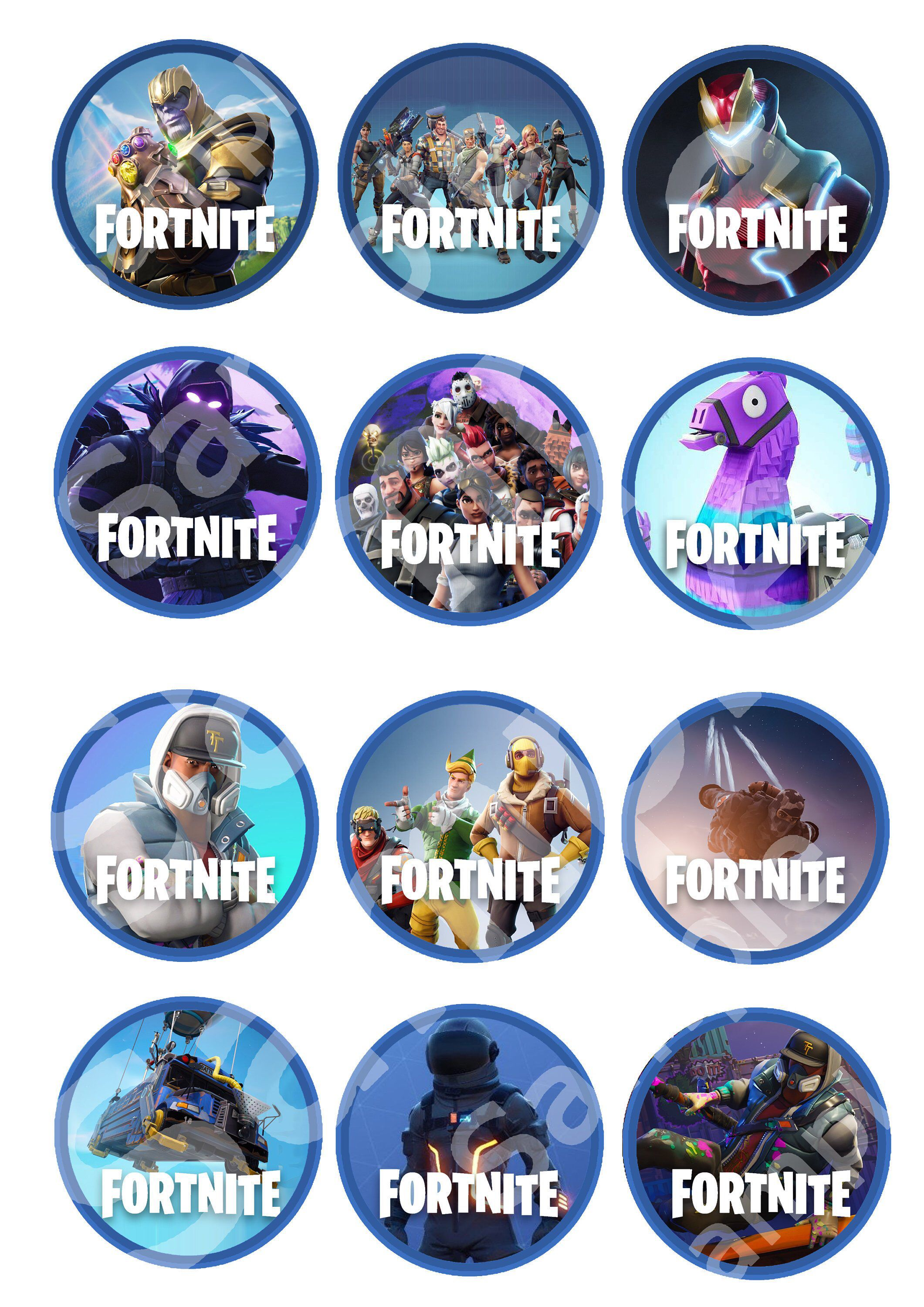 Excited to share the latest addition to my #etsy shop: Premium Fortnite Downloadable Ediable Cupcake Toppers #papergoods #blue #birthday #battleroyale #fortnite #battle #ps4 #royale #gamer #1 #share #like #rt #love #gay #baker #cucpake