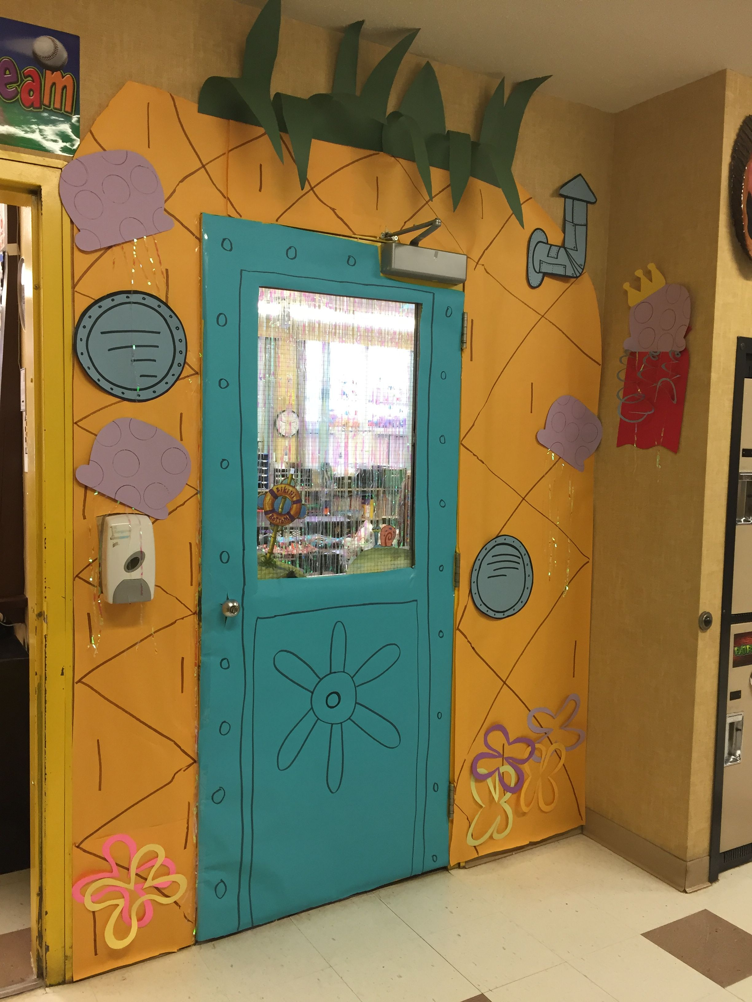 Spongebob Squarepants Pineapple Classroom Door