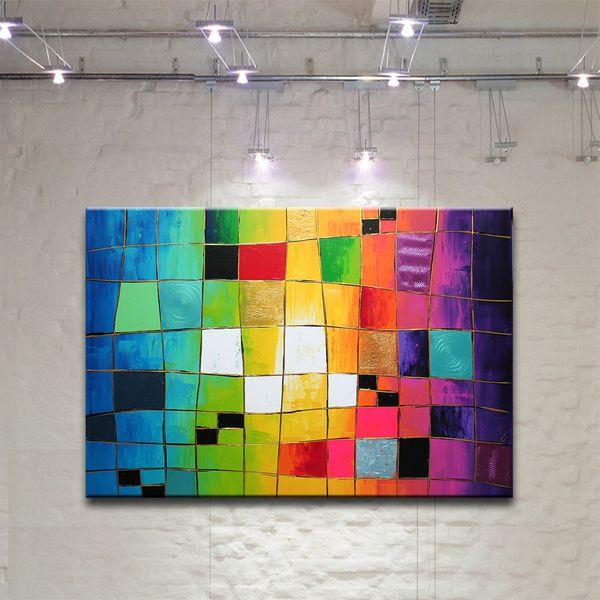 Acrylmalerei outsider gem lde abstrakt bild kunst malerei ein designerst ck von acryliks bei - Einfache acrylbilder ...