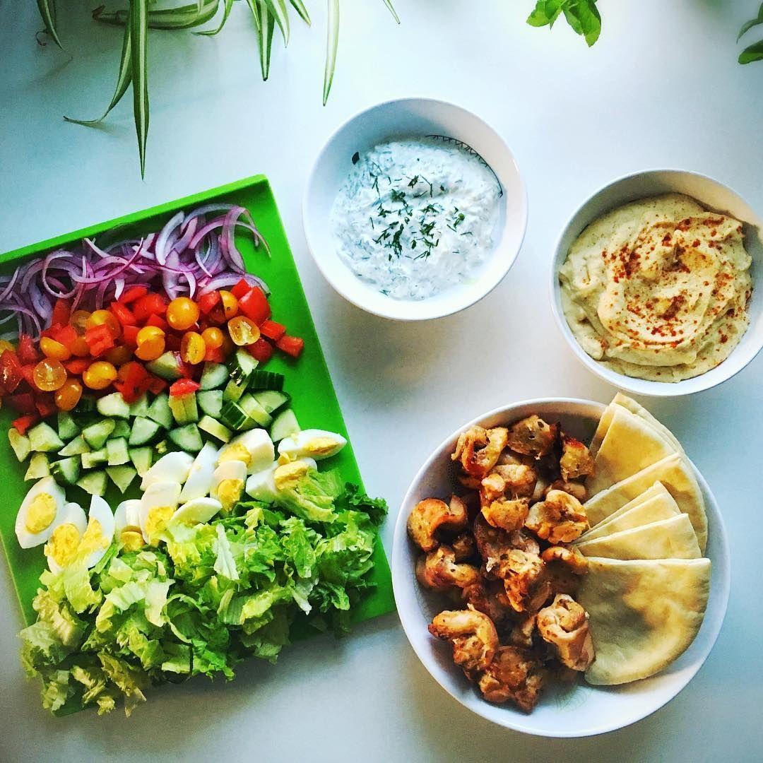 Chicken Gyro Salad Recipe Salads Pinterest Salad Gyro Salad