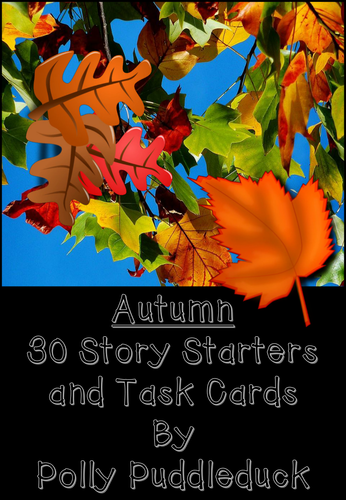30 Autumn Story Starters and Task Cards