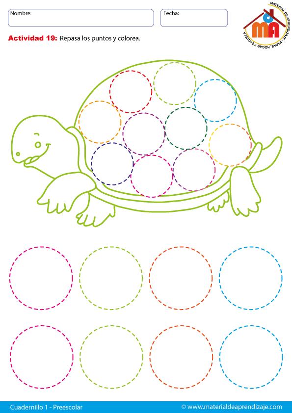 Cuadernillo preescolar 1 de pre-escritura para niños entre 3, 4 y 5 ...