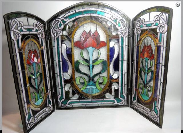 Stunning Stained Glass Fire Guard Stained Glass Panels