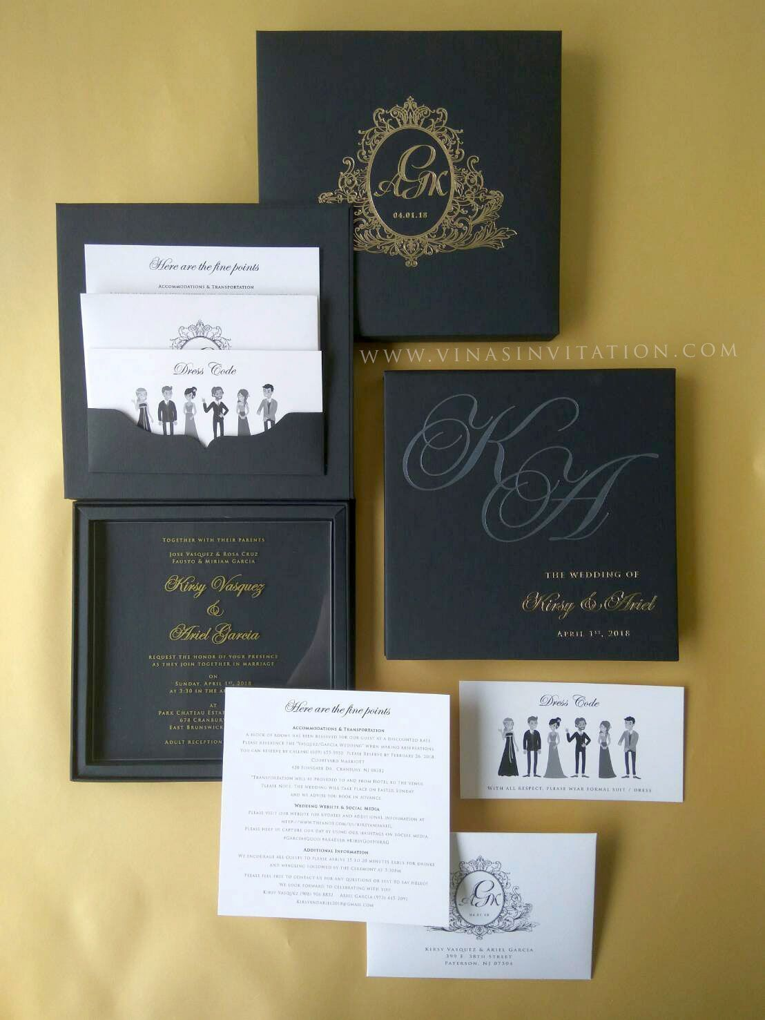 Vinas Invitation Australian Wedding Acrylic Invitation Perspex