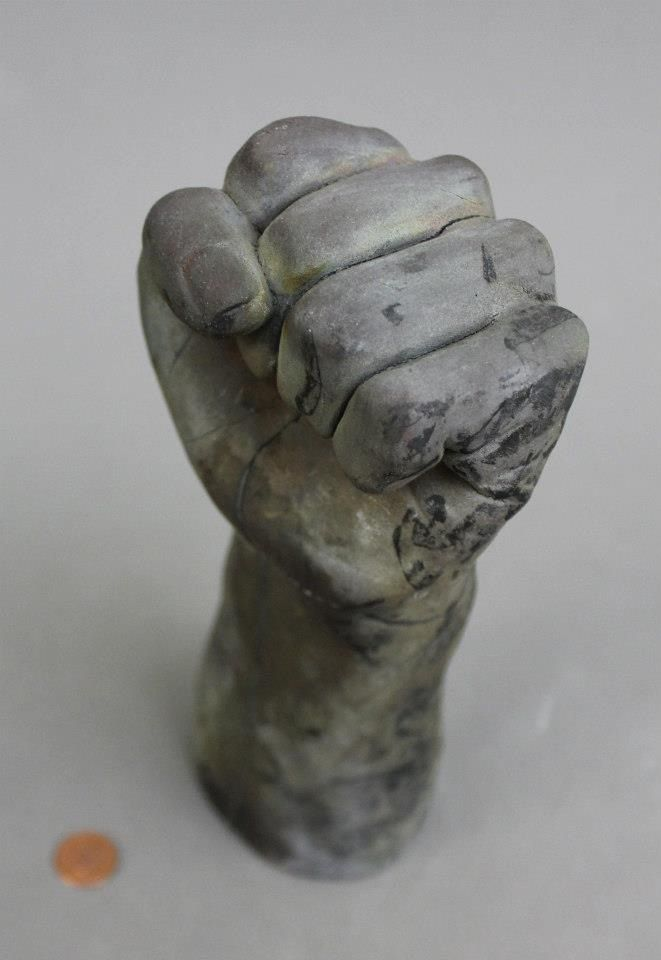 fist sculpturing soap a with