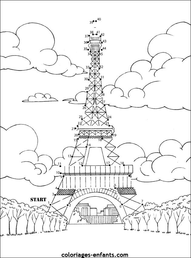 Paris Et Sa Tour Eiffel Arts Primaire Coloriages Tour Eiffel