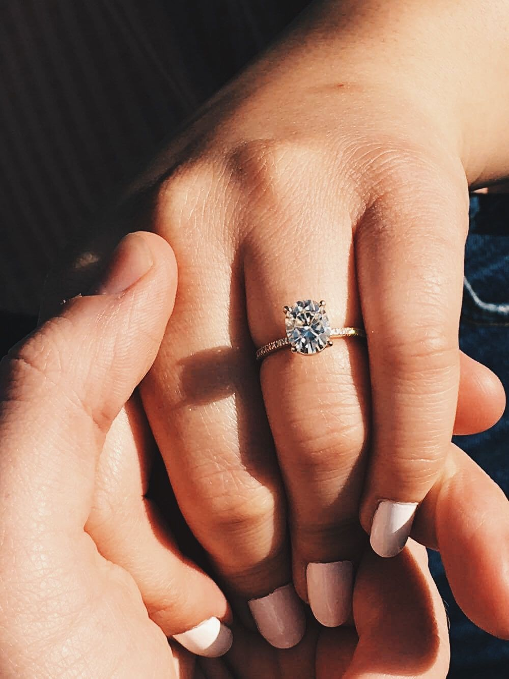 Love this pose to announce it but not my dream ring