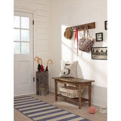 Alaterre Revive Wall Coat Hook with Bench Set - ARVA030920