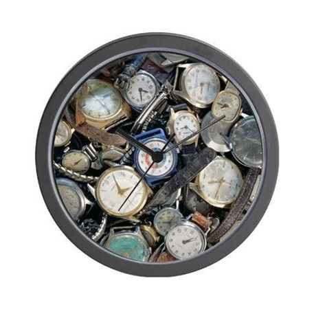 Broken wrist-watches - Wall Clock on CafePress.com