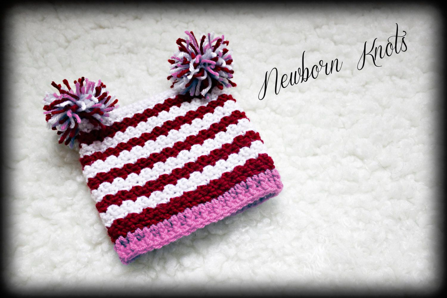 CROCHET PATTERN For Textured Baby Valentine Hat. Pattern number 005 ...