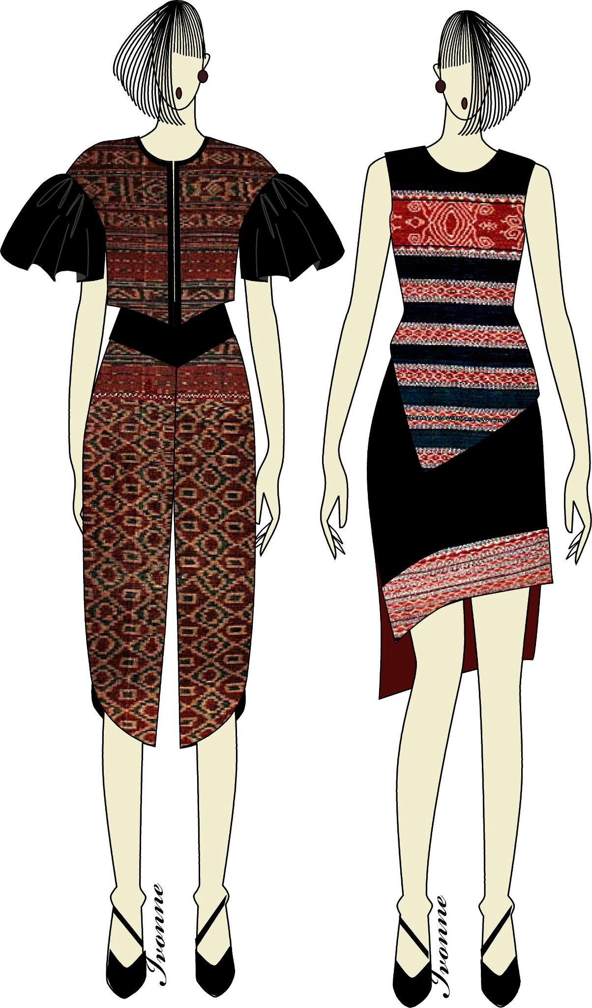 Ikat Weaving Dress Batik