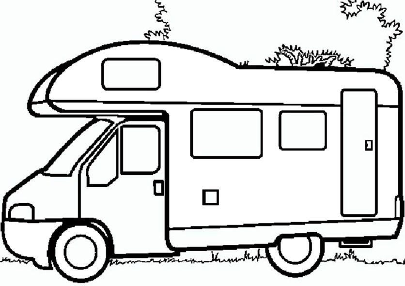 Wohnmobil Zum Ausmalen Autos Malen Ausmalen Ausmalbilder