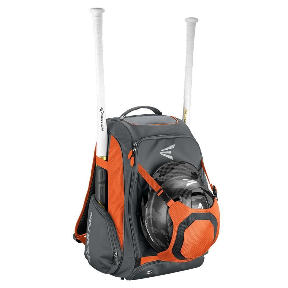 Easton WalkOff Bat Pack, Grey/Orange Baseball bag