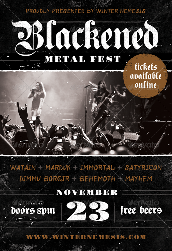 Blackened Metal Fest   Heavy Metal Flyer Template