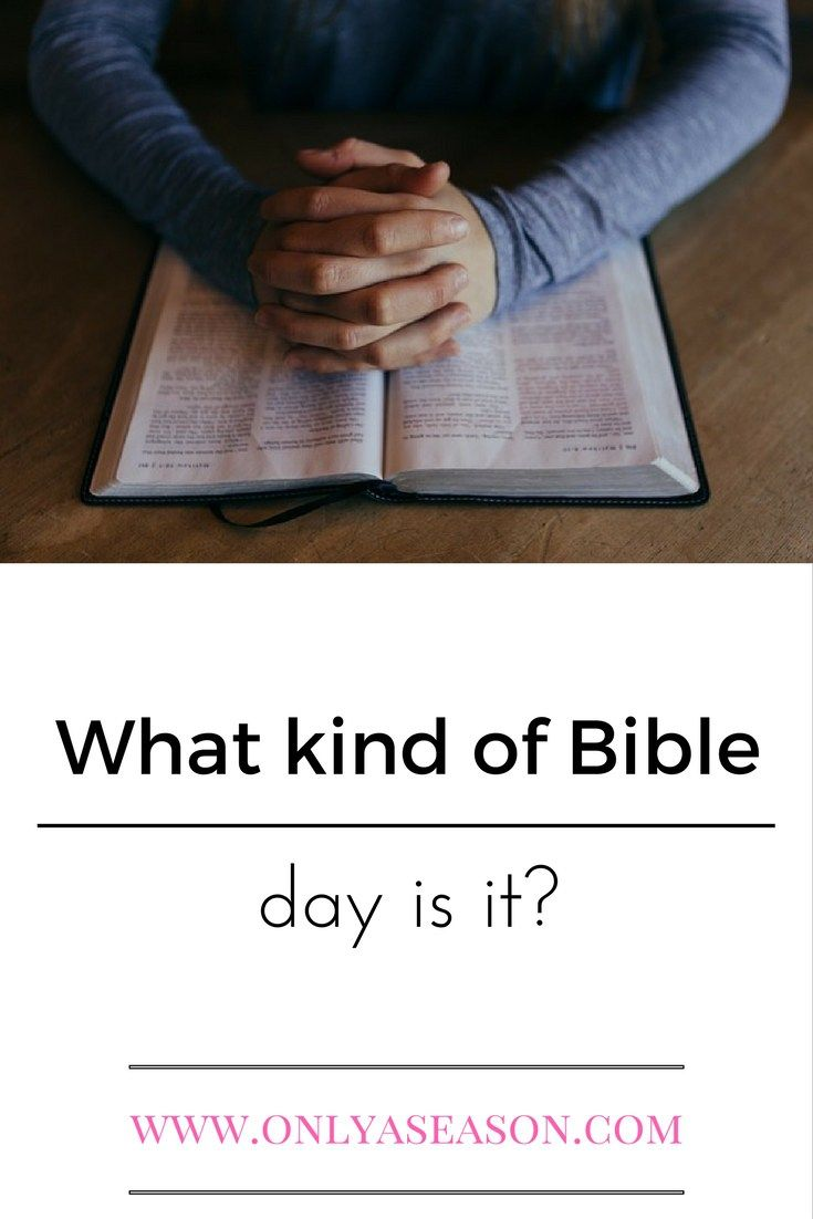 Does it matter if we read the bible or a devotion every day? What kind of Bible day is it?