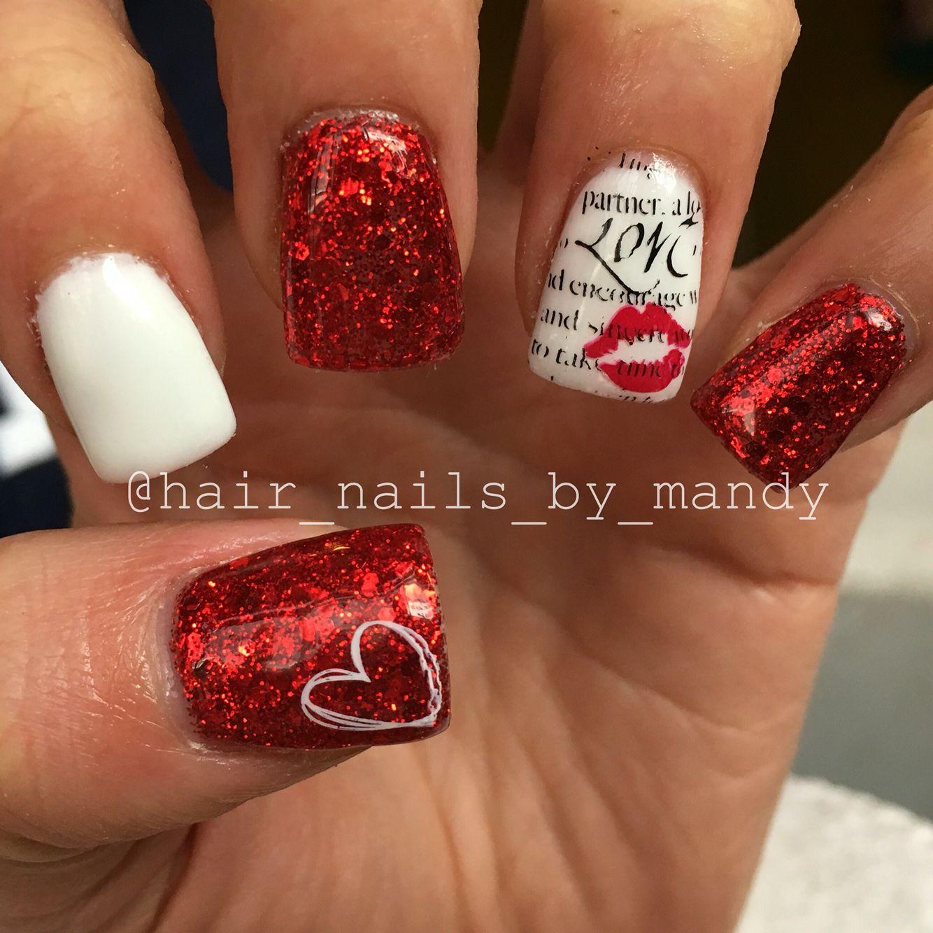 Valentine\'s Day nails | Nails I\'ve done | Pinterest | Nail nail ...