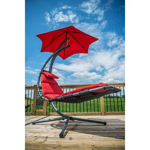 The Original Dream Chair Cherry Red Vivere Chaises U0026 Loungers Patio Chairs  Outdoor