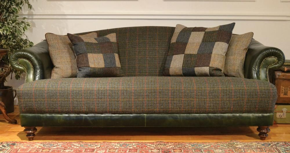 Tetrad harris tweed taransay sofa collection dogtooth for Leather and tweed sofa