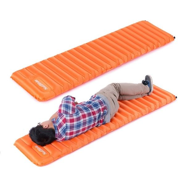 Ultralight Manual Inflatable Hand Press Inflating Dampproof Sleeping Pad Tent Air Mat Mattress Outdoor Camping Manual Inflatable Mat Float Insulated Sleeping Pa Tent Camping Beds Camping Mat Sleeping Pads