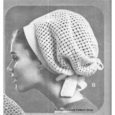 Crocheted Net Snood Pattern Crochet A Hat For Fun Pinterest