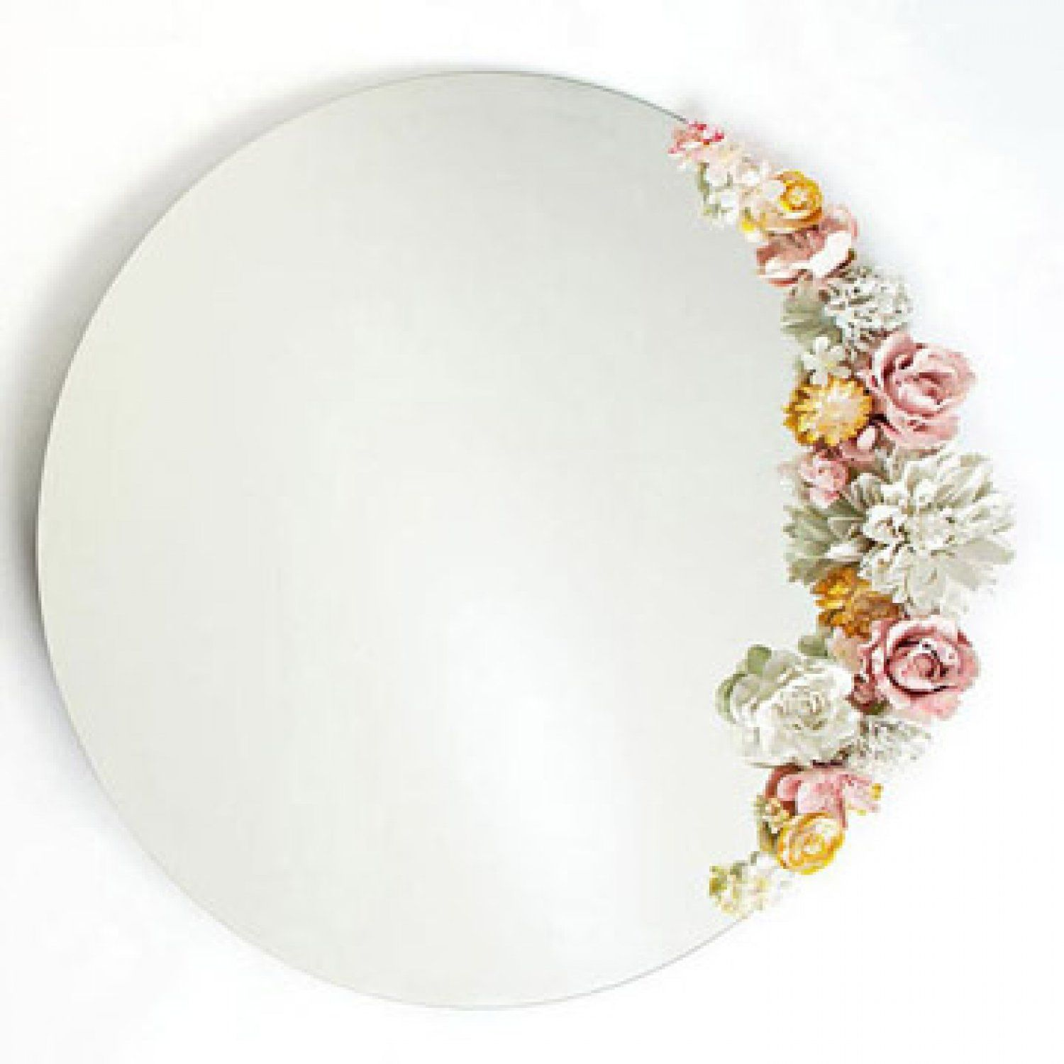 Craft Idea: Mirror With Flowers