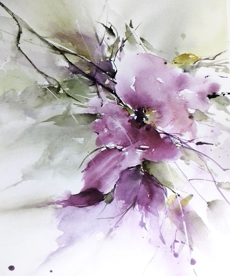 Watercolor Flower Tutorial Natalie Malan Pinners Conference