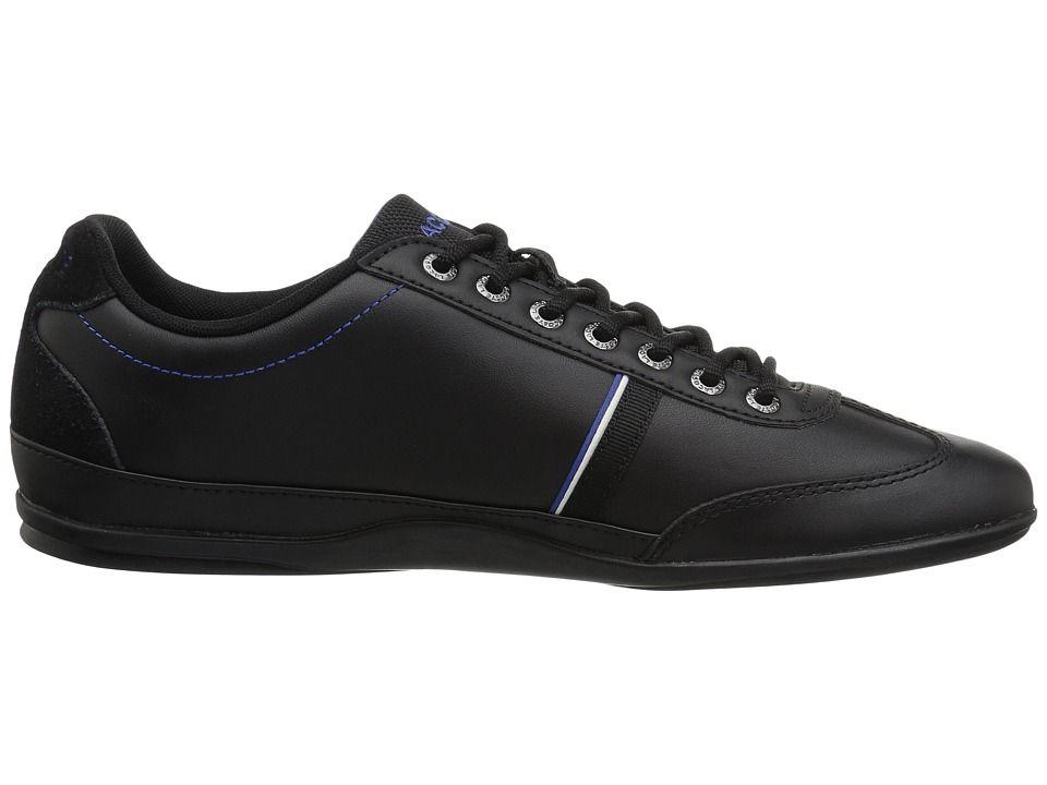 b176cb212 Lacoste Misano Sport 118 1 Men s Shoes Black Dark Blue Lacoste Trainers