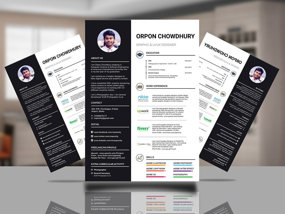 Orpon Resume Free Infographic Resume Template In Illustrator Format