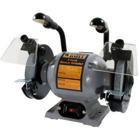 Cool Black Bull 8 Inch Bench Grinder With Lights Gray Products Alphanode Cool Chair Designs And Ideas Alphanodeonline