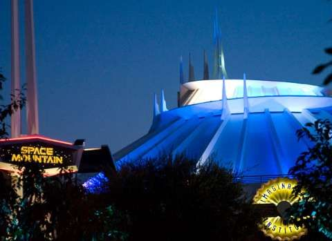 Image result for space mountain disneyland ride photo