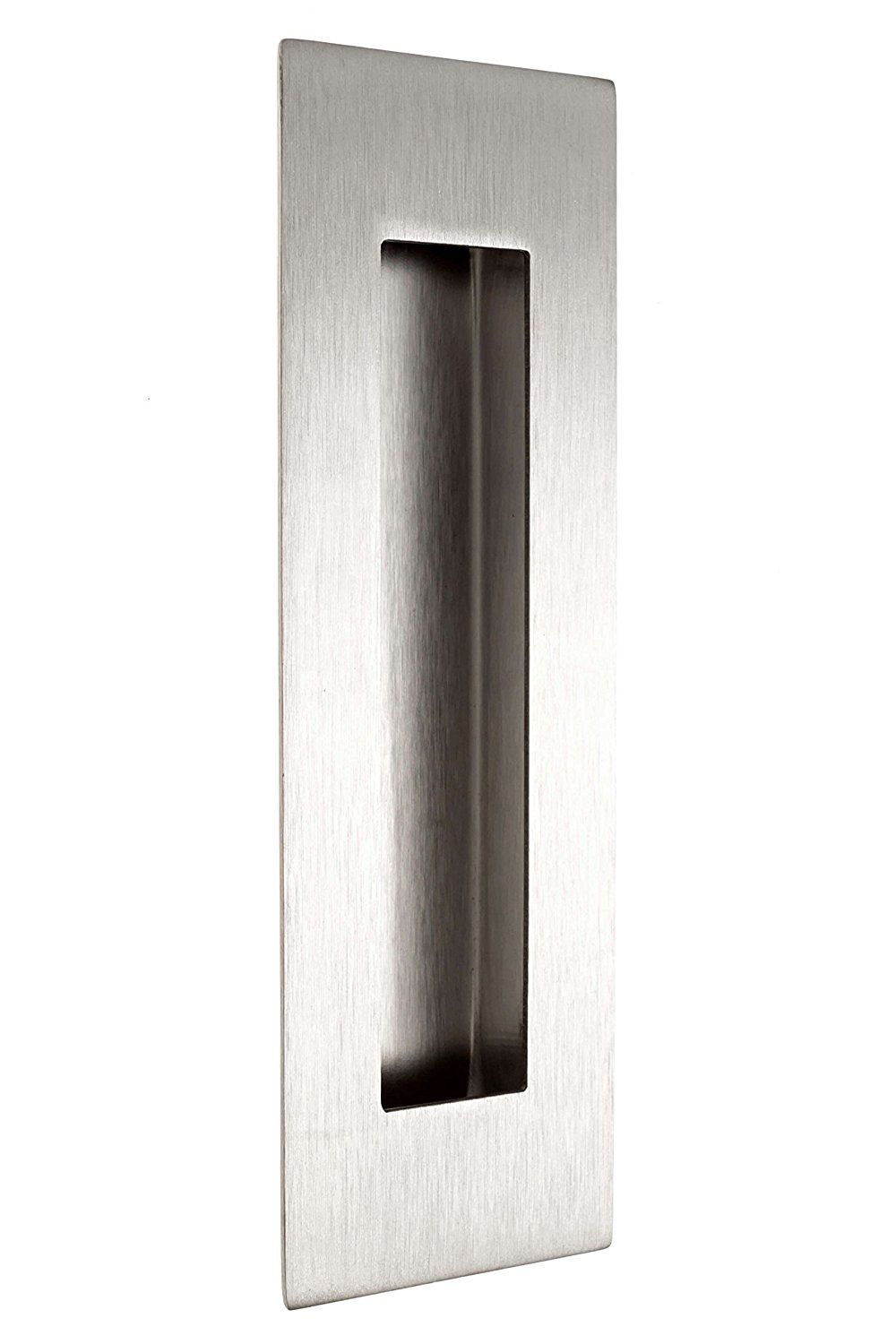 Flush Door Pull For Pocket Doors 2 Pack Recessed Finger Pulls Stainless Steel With Satin Finish 6 X 2 X 6 Includes Pocket Doors Sliding Doors Flush Doors