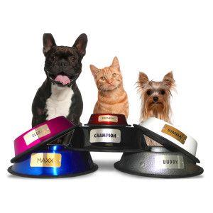 Platinum Pets Personalized Pet Bowl Food Water Bowls