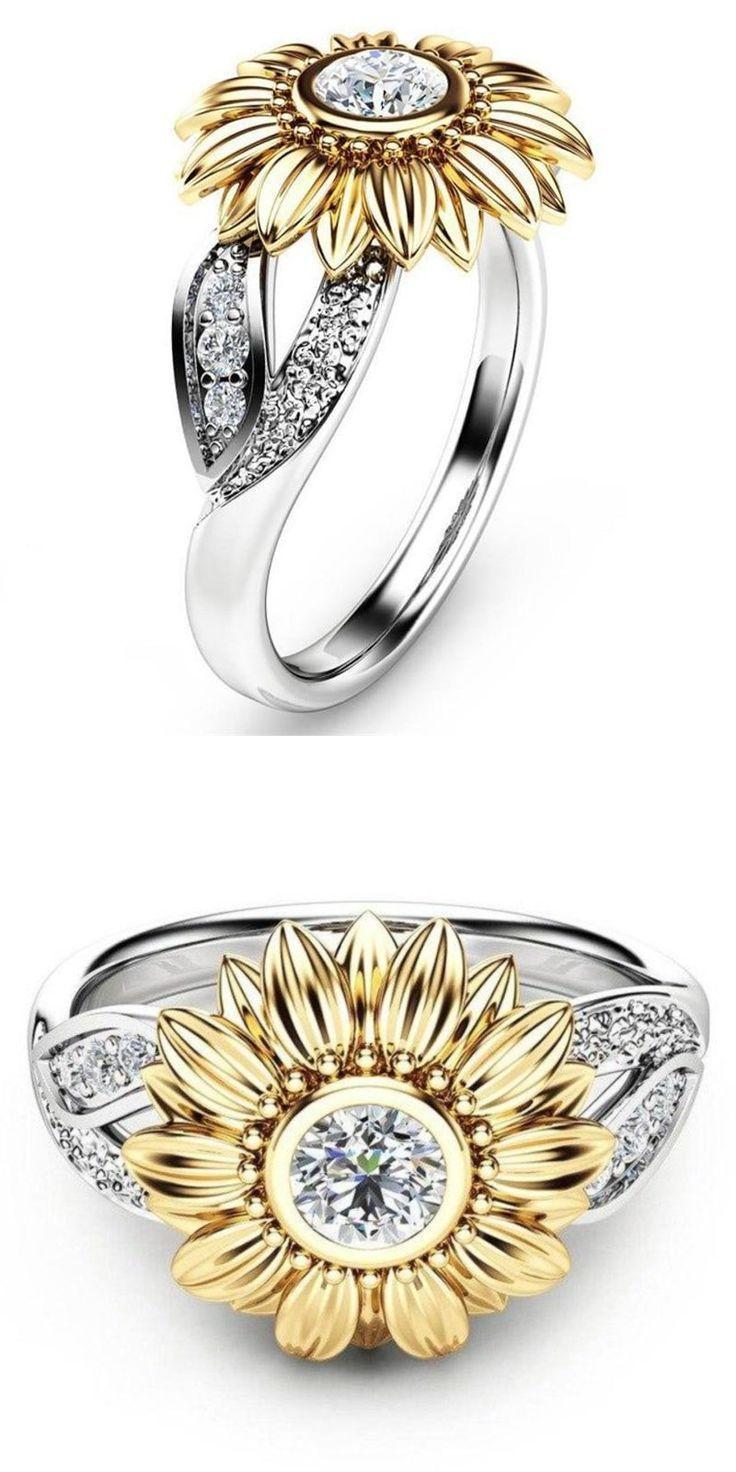 The Sunflower Ring Steampunk Gypsy in 2019 Sunflower