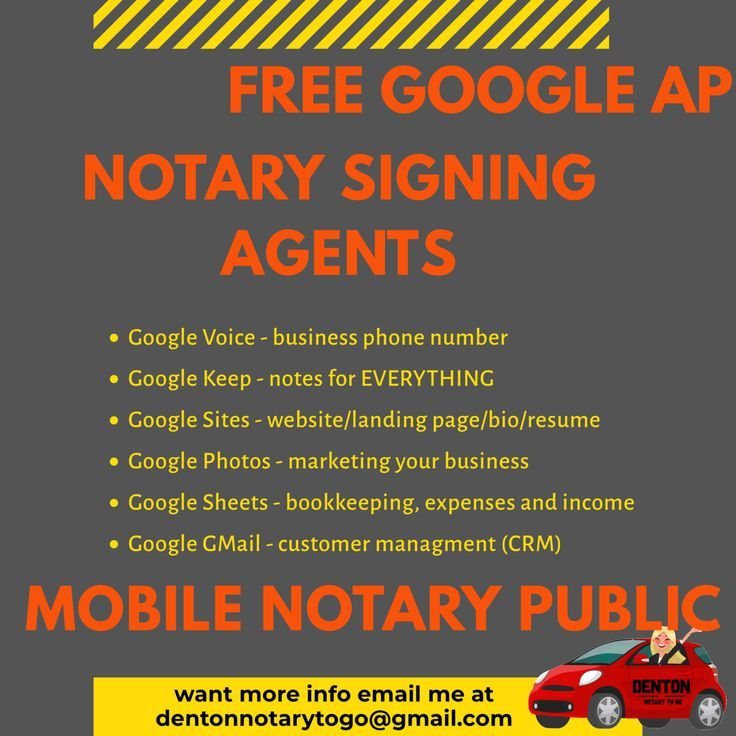 Top five google apps for mobile notaries and signing