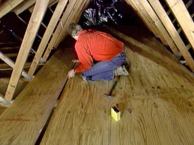 How to Create Attic Storage : How-To : DIY Network