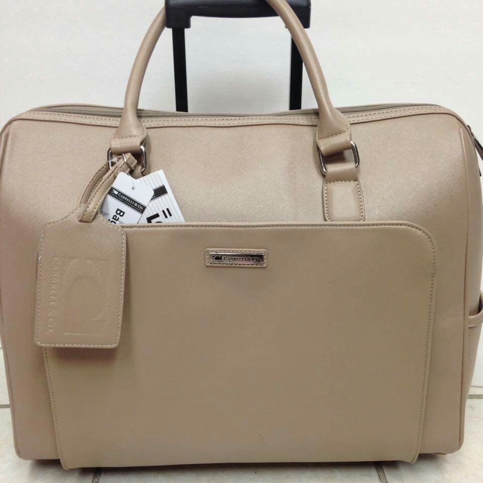 483f511a5371 The rolling tote from Cabrelli can make us feel feminine and stylish at any  time and place.Fits 15