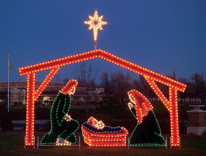 christmas nativity scene lights and other lighting displays new dripping icicle led lights too