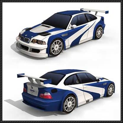 Need For Speed Bmw M3 Gtr E46 Paper Car Ver 2 Free Paper Model