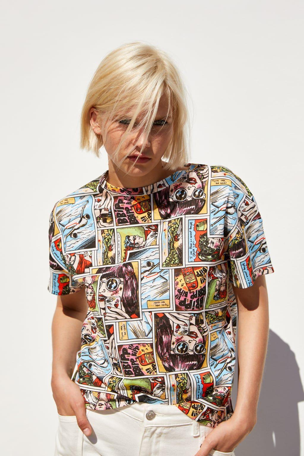 tee shirt fleuri femme zara