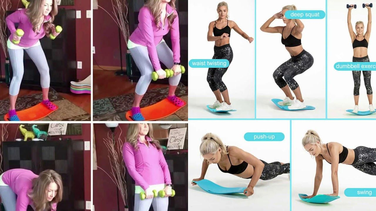 Fitness Balance Board Simple Core workout at home Yoga Gym Fitness  exercise abs