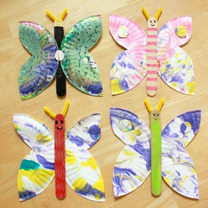 13+ Schmetterlinge basteln mit kindern Sammlung
