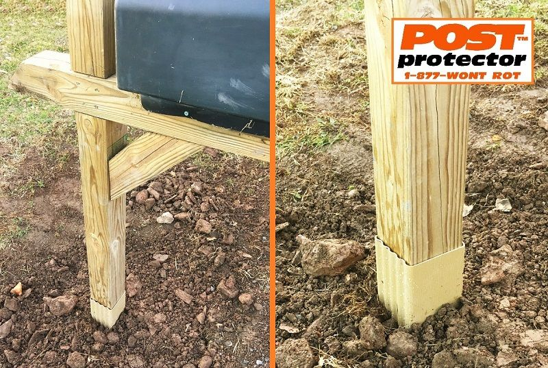 Mailbox Post Installation No Decay Causing Soil To Post Contact With Post Protector Fence Post Installation Cedar Posts Mailbox Post