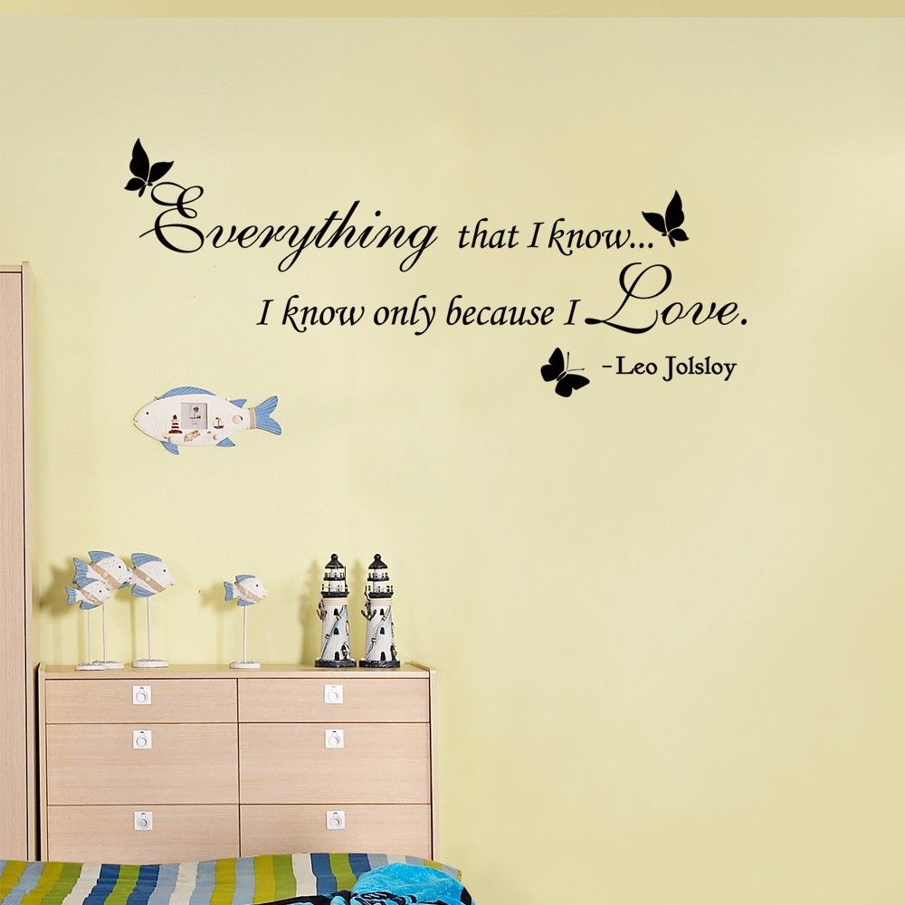 Romantic italian love pictures love google search food lovers everything that i know only because i love you wedding decoration romantic love vinyl wall quote sticker x s junglespirit Gallery