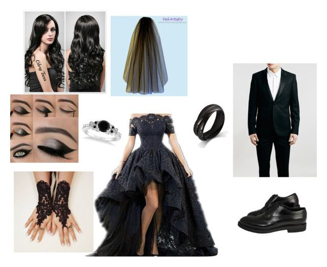 """""""Black wedding⚫️"""" by savanna-bugg ❤ liked on Polyvore featuring beauty and Allurez"""