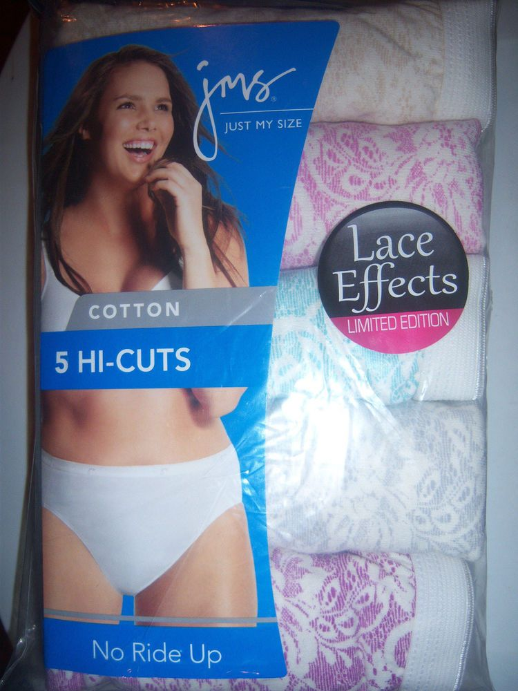 44c3ff3d1fc2 5 PAIR WOMENS JUST MY SIZE SIZE 13 HI - CUTS NEW LACE EFFECTS 100% COTTON  #JustMySize #HiCuts #Everyday