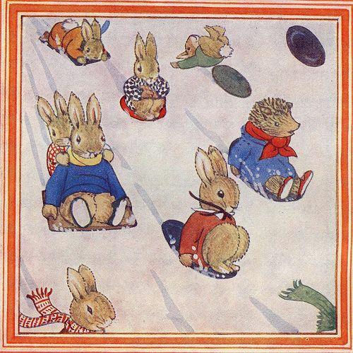 Margaret Tempest's Little Grey Rabbit Sledging