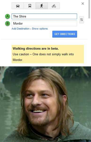 One does not simply walk into Mordor - Internet Meme