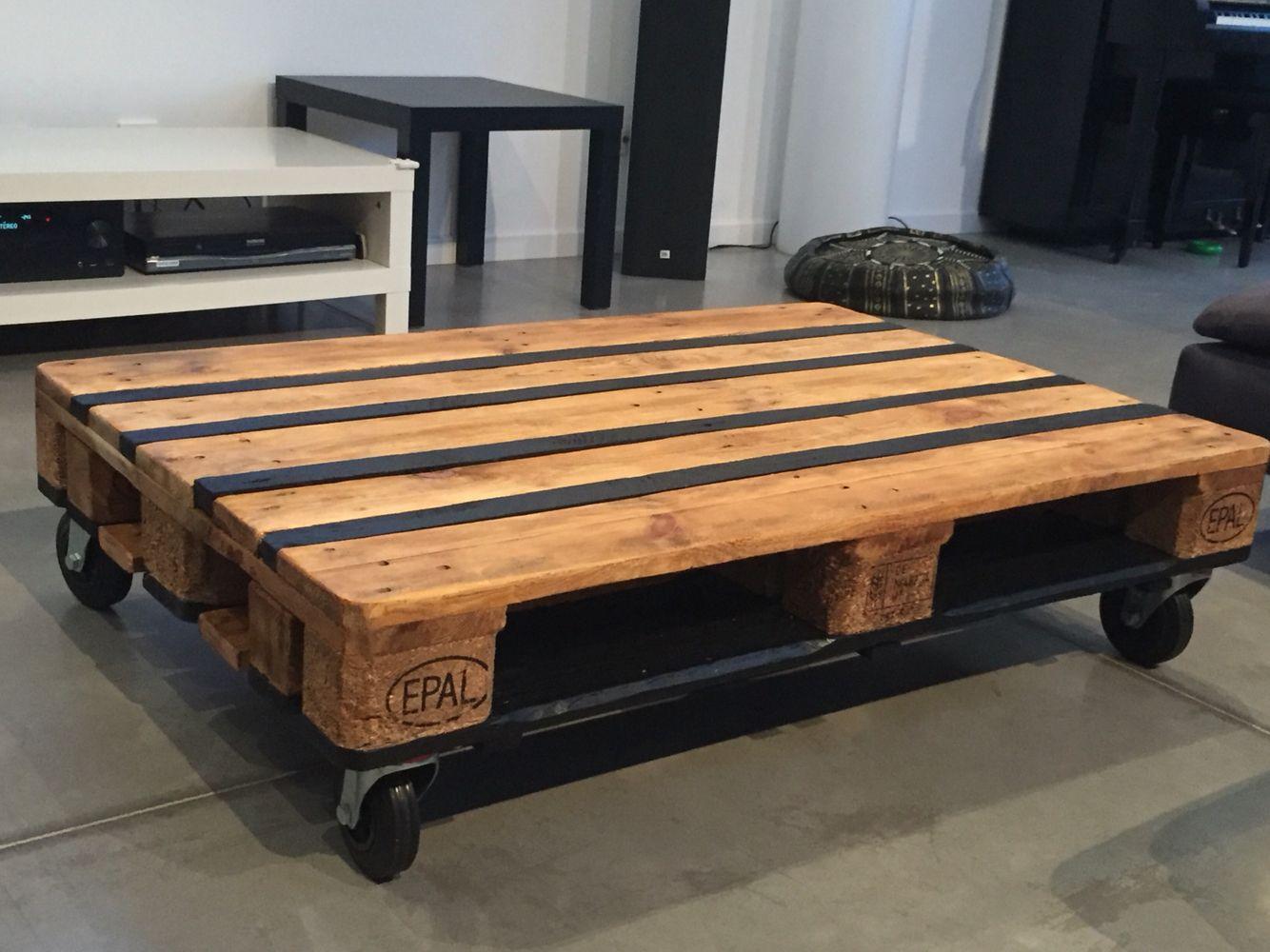 Table Basse En Palette D Apres Tuto Leroy Merlin Table Basse