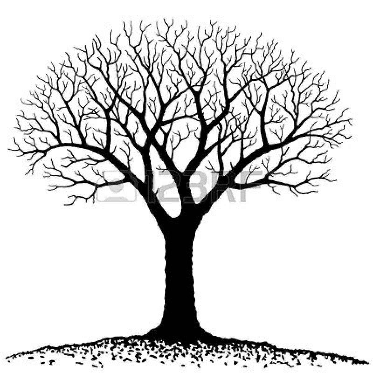 Bare Tree Silhouette Clip Art | Bare Tree Silhouette Clip Art ...