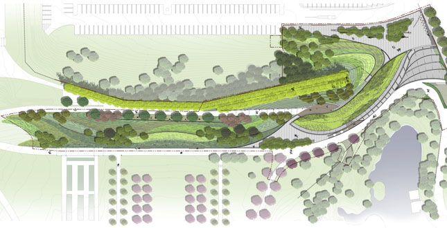 Brooklyn Botanic Garden Visitors Center Landscape